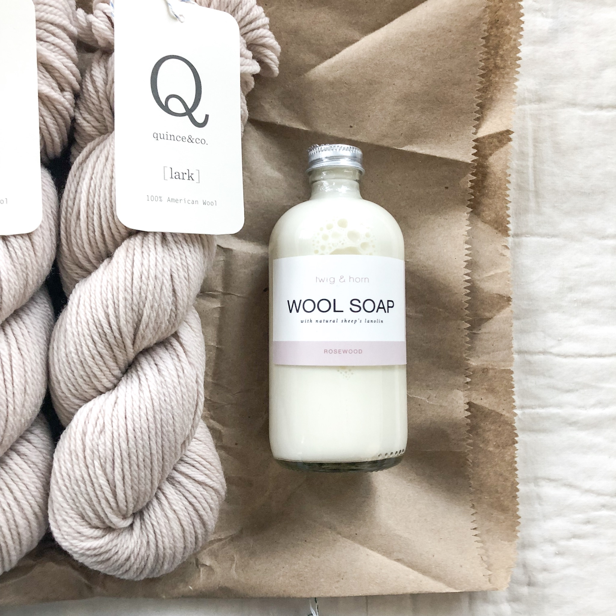 Twig & Horn Wool Soap in Rosewood