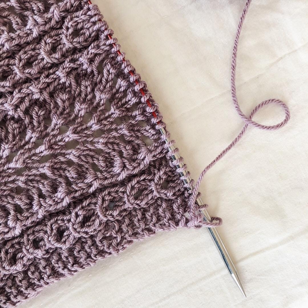 Shale Baby Blanket by Brooklyn Tweed