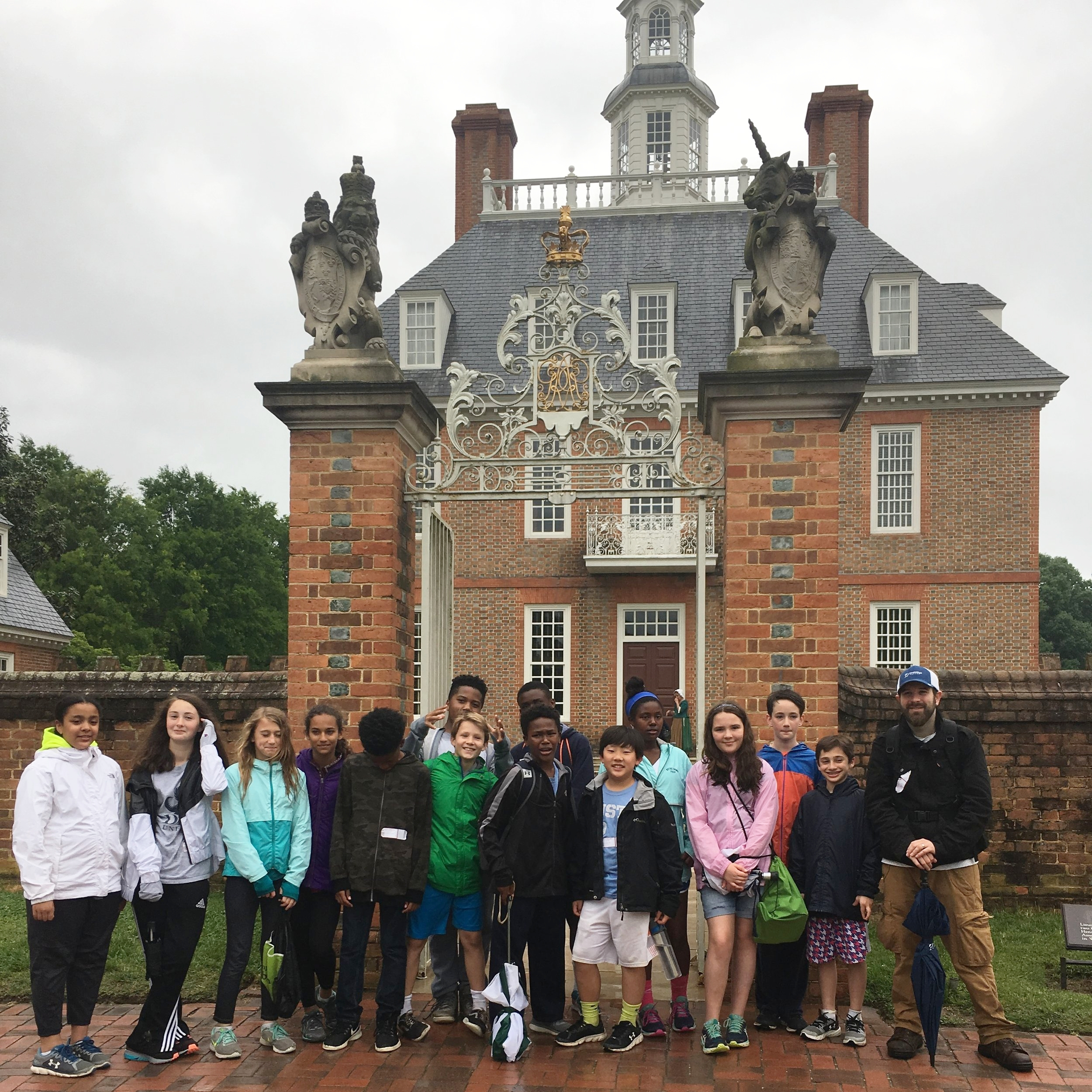 The culminating trip of the year is an overnight trip to Williamsburg, VA.