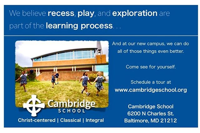 Who needs to hear about Cambridge? Schedule a tour or join us for an upcoming open house: October 21, 9-11 a.m. October 22, 6:30-8 p.m.  Because recess, play, and exploration are part of the learning process!
