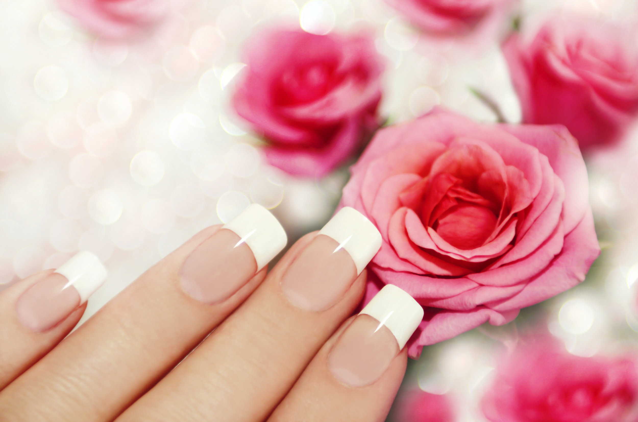 Gel Nails with French Manicure