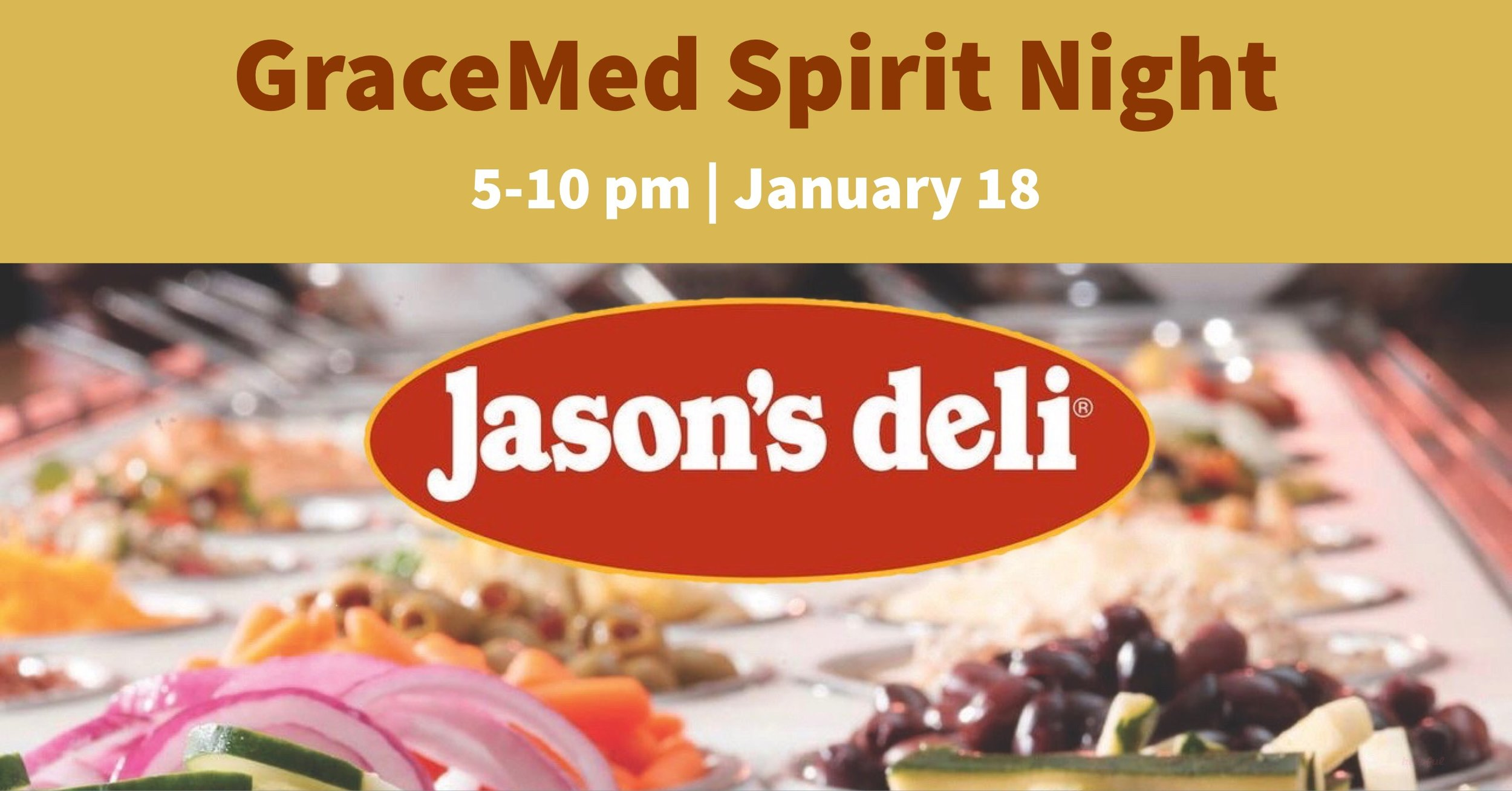 GraceMed Spirit Night at Jason's Deli