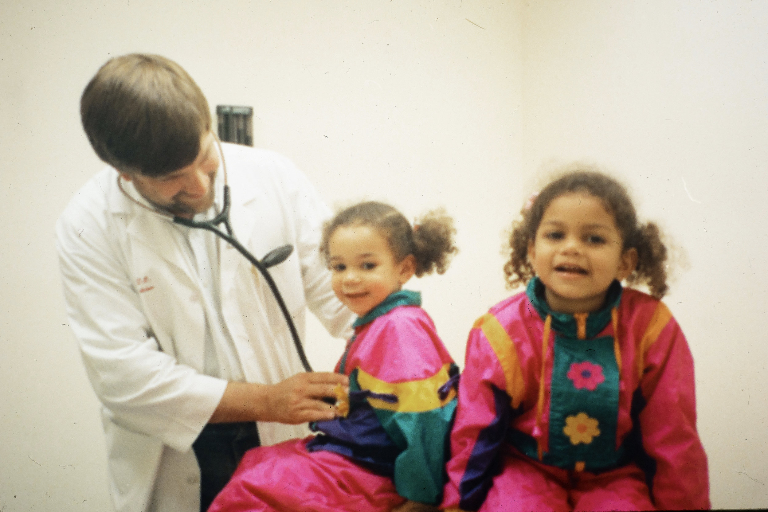 Dr. Robb White treats a couple of young patients