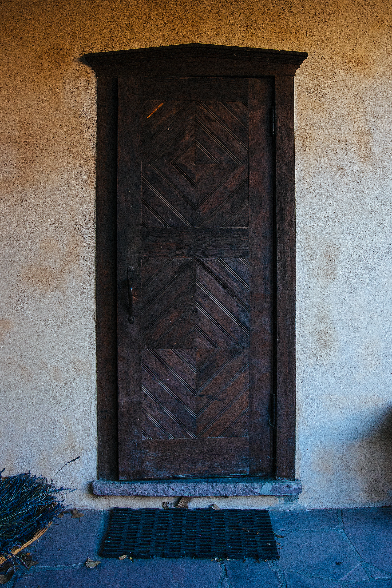 Door detail, Los Poblanos ranch