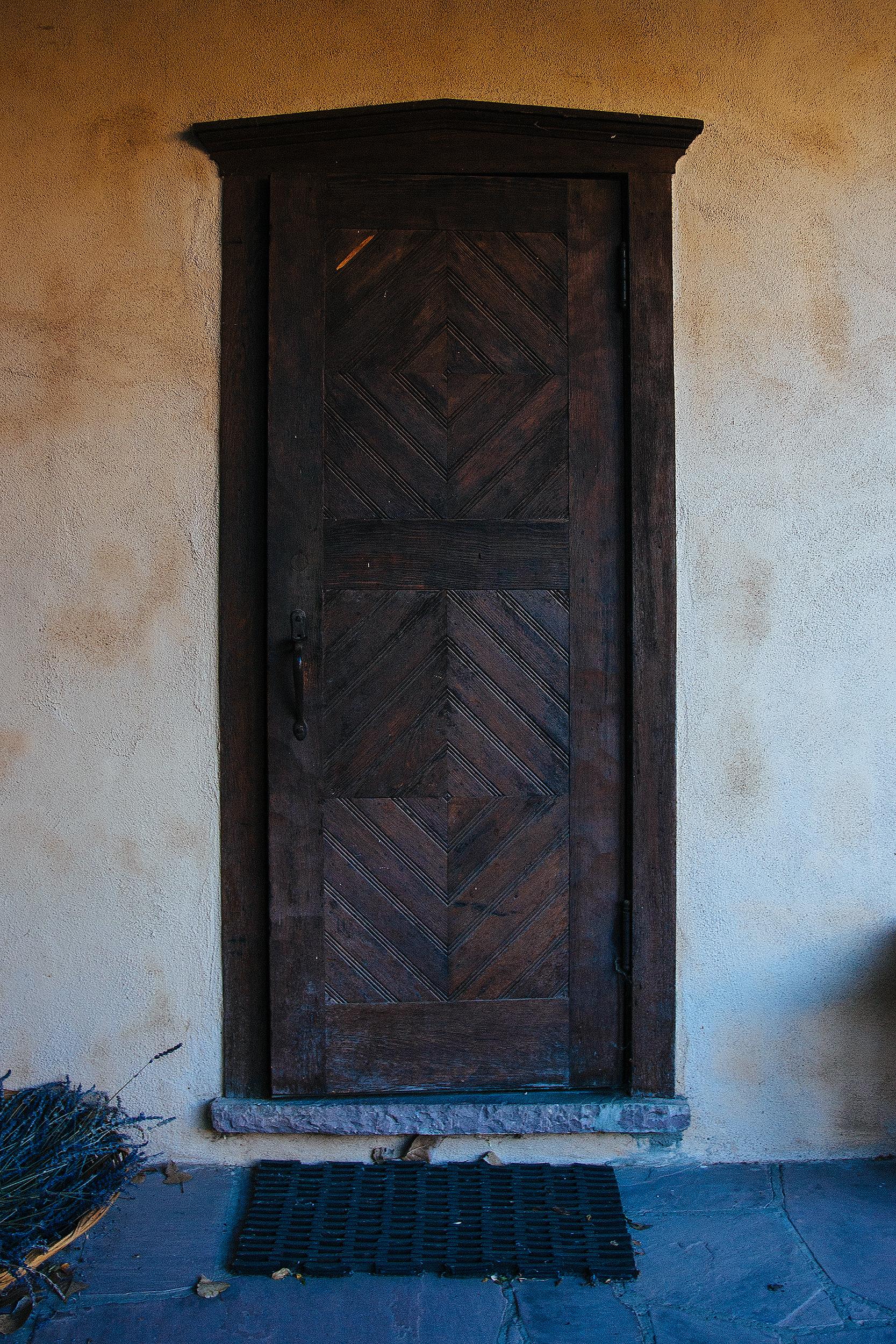 Door detail, Los Poblanos ranch