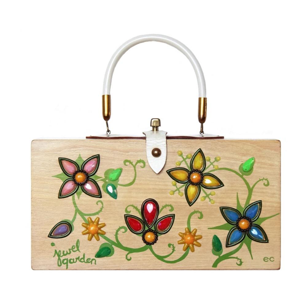 """Enid Collins of Texas """"jewel garden"""" box     height - 5 3/4"""" width - 11 1/8"""" depth - 2 3/4"""""""