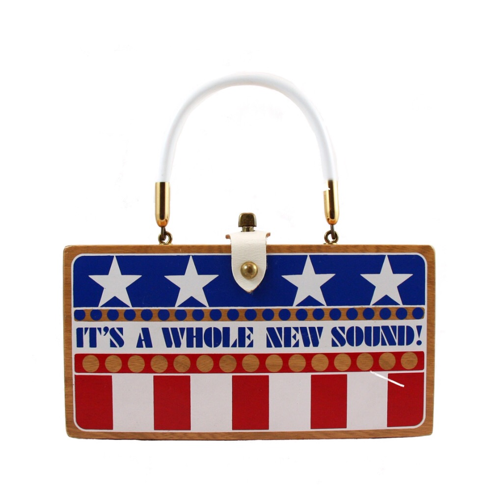 """Enid Collins of Texas """"It's A Whole New Sound"""" box bag   Height - """"  Width - """"  Depth - """""""
