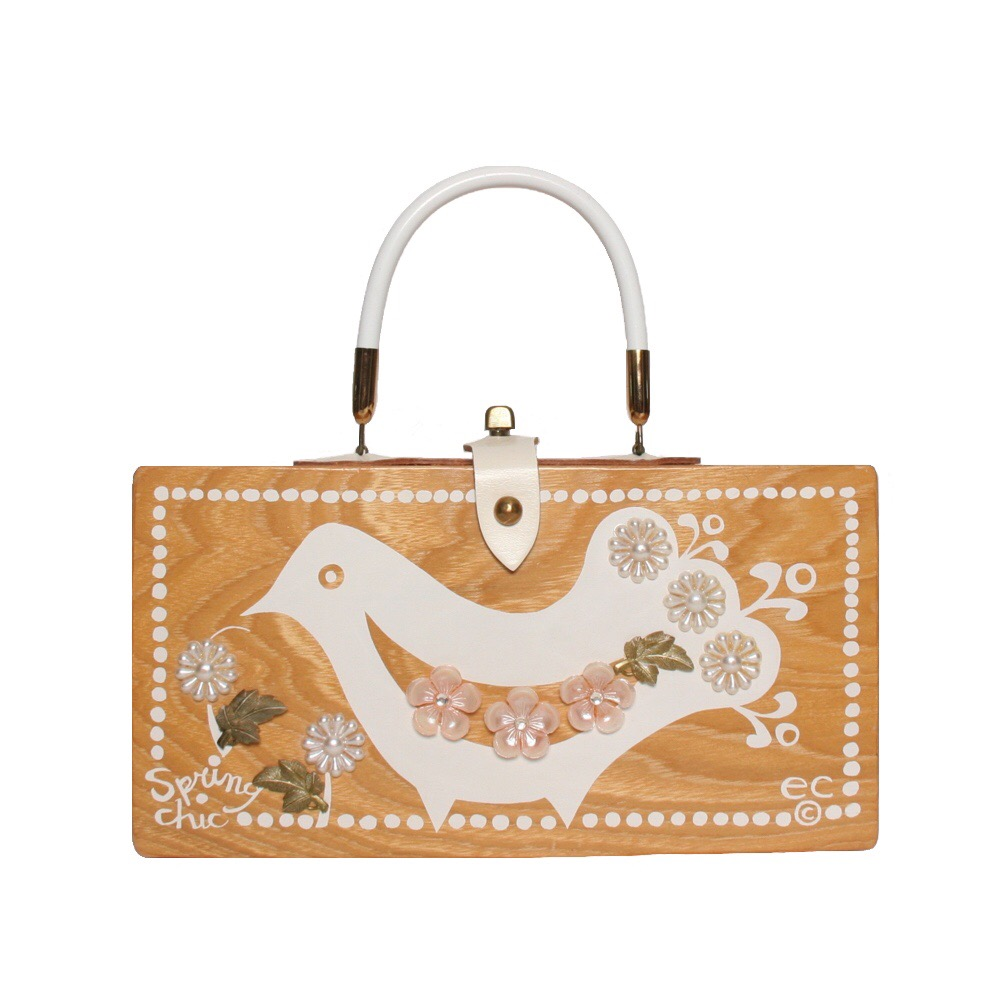 """Enid Collins of Texas """"spring chic"""" box bag   height - """"  width - """"  depth - """""""