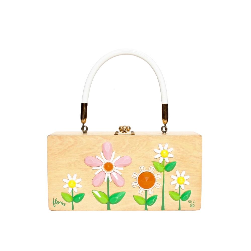 "Enid Collins of Texas ""flora"" box bag   height - ""  width - ""  depth - """