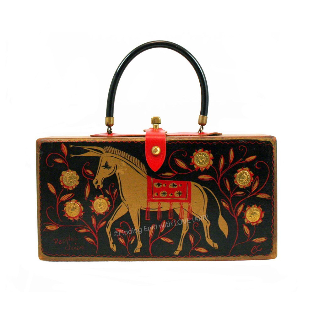 People's Choice 1968 donkey black red 5071 by Enid Collins.jpg