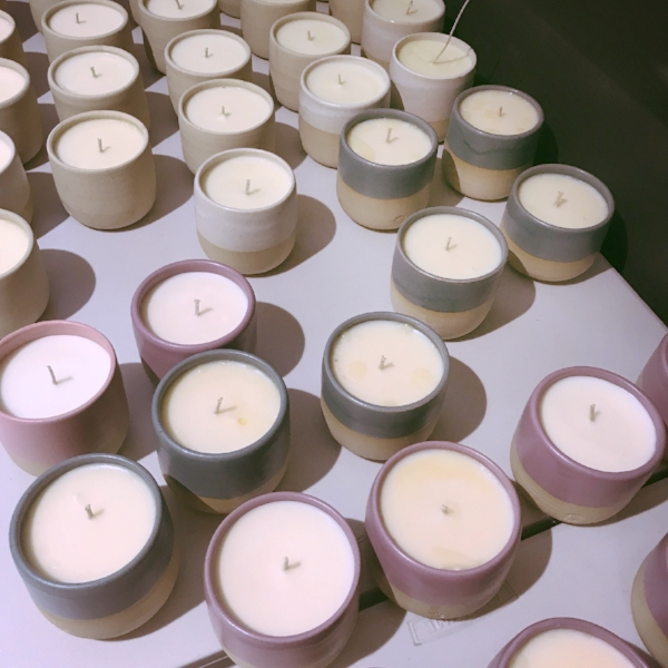 A sneak peek at our new candle holders.
