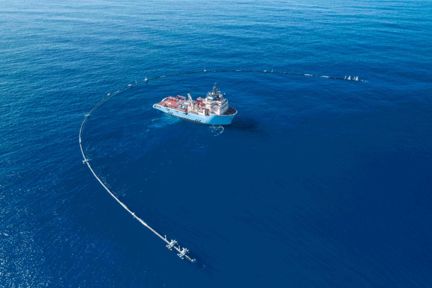 The Ocean Cleanup's System 001. Photo courtesy: The Ocean Cleanup.
