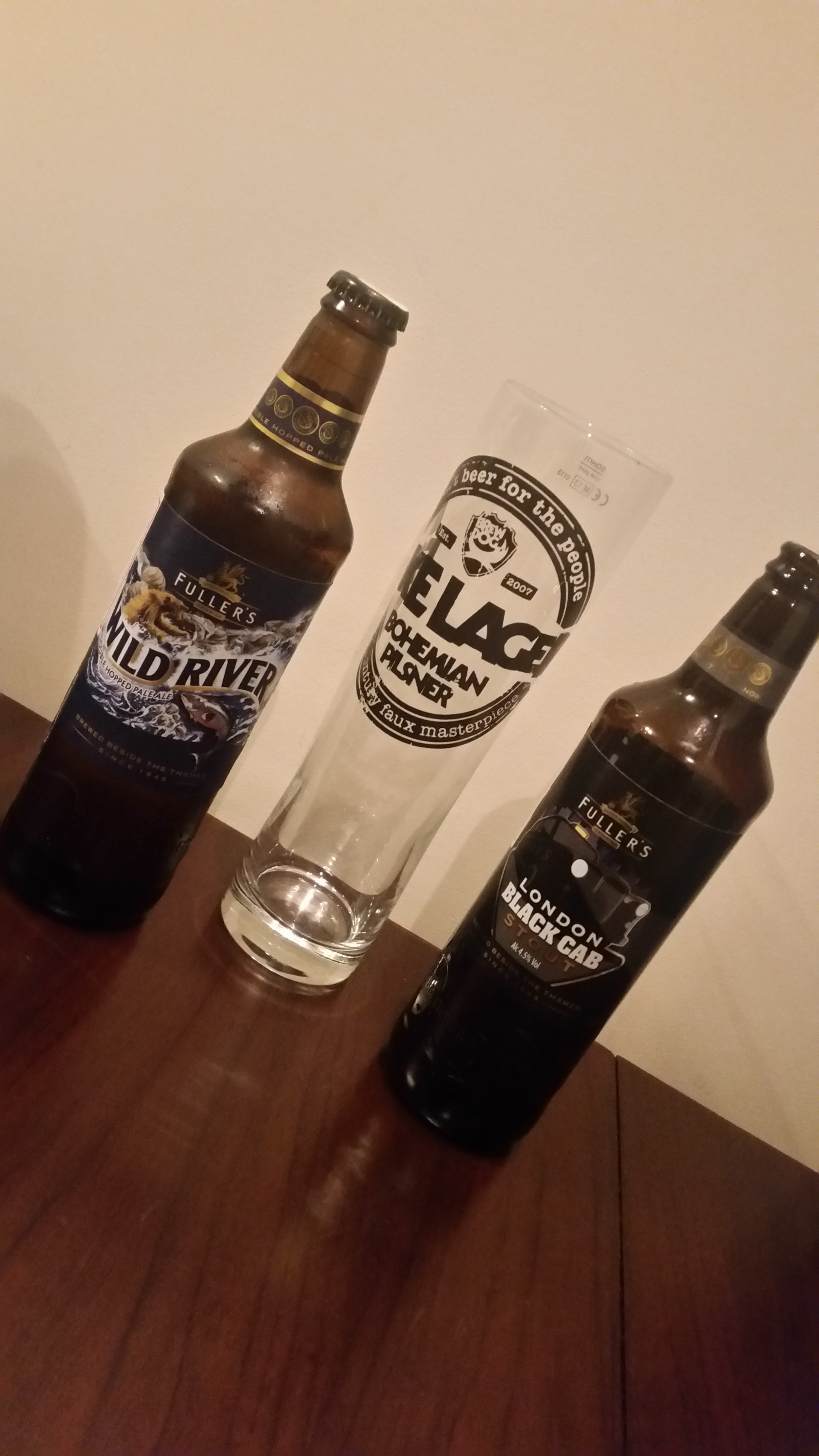 Wild River and Black Cab Stout