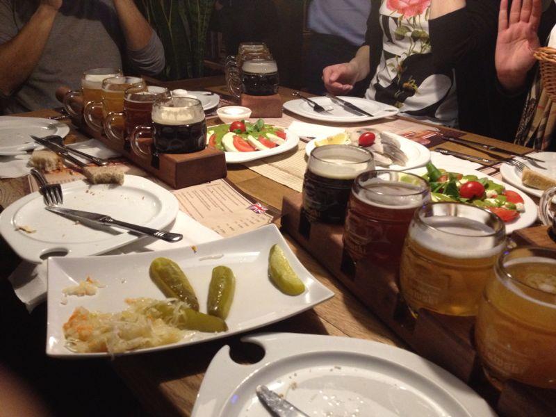 Beer flights and pairings