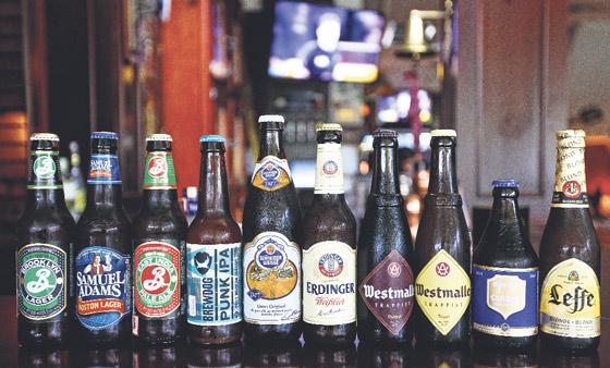 2015 sonbaharı itibariyle menüden bir kaç bira. Bazıları aramızdan ayrıldı