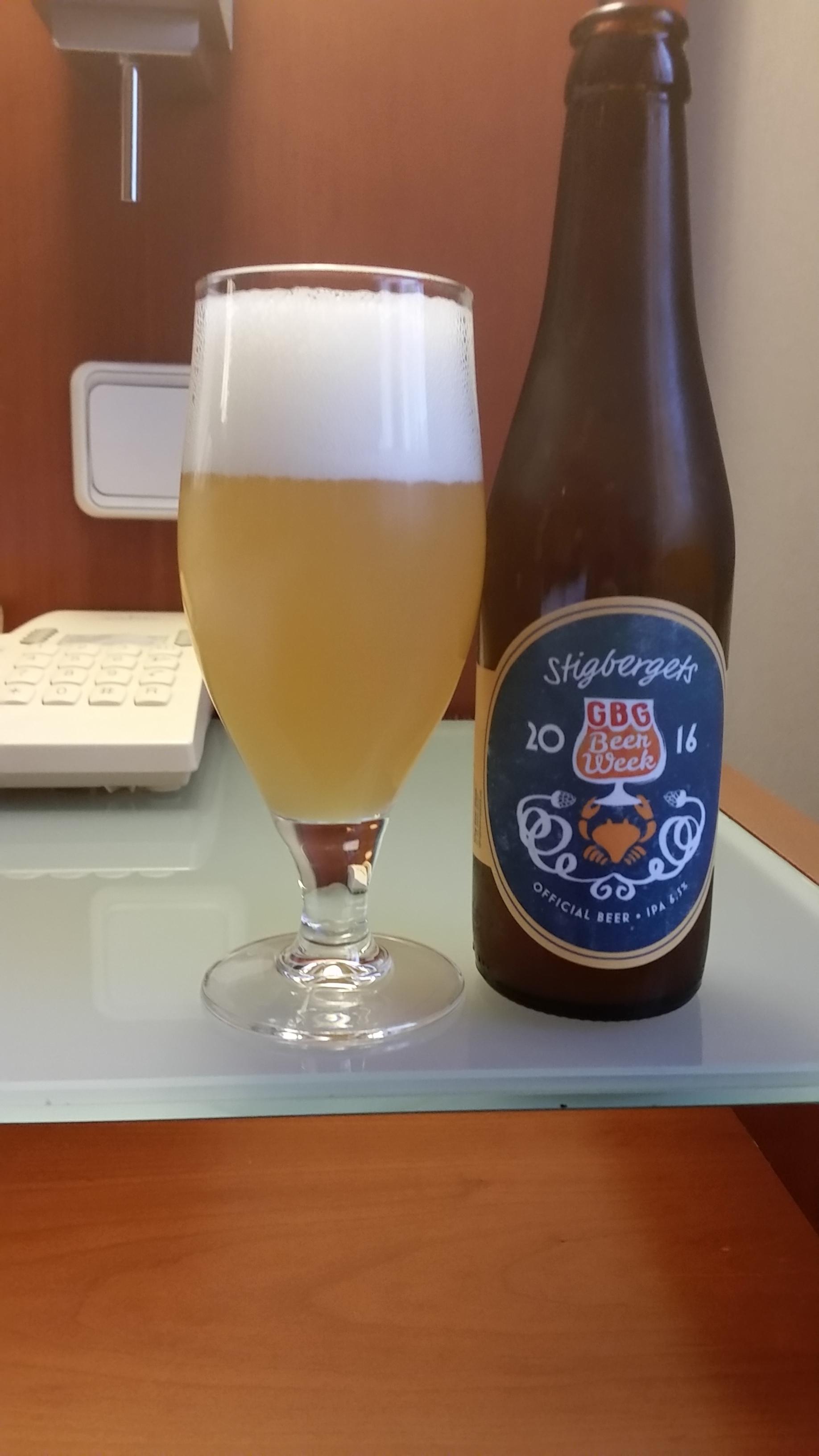 Stigbergets Gbg Beer Week 2016, İsveç'ten ve 100 puan,mükemmele yakın bir IPA