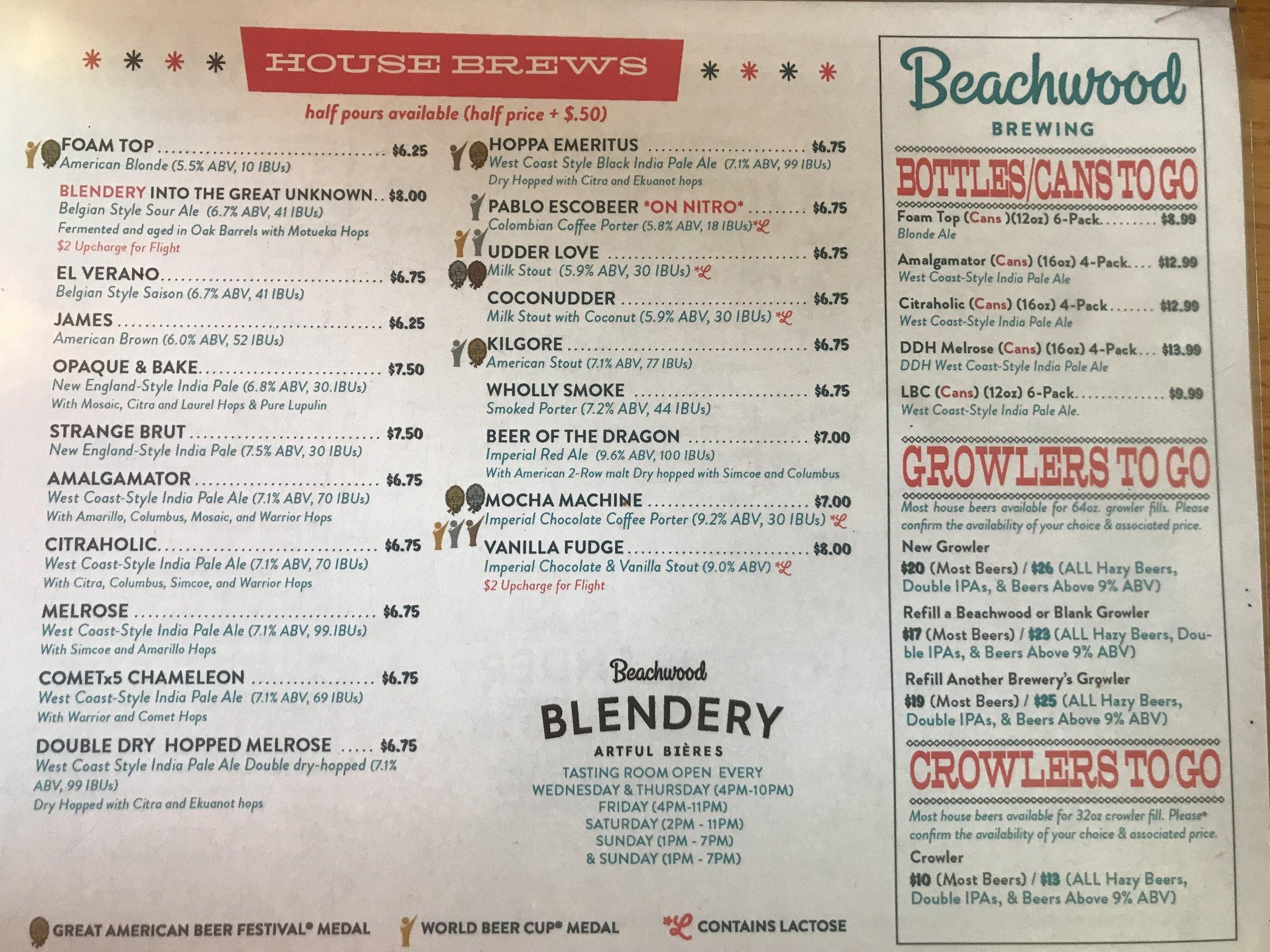 beachwood-brewing-menu