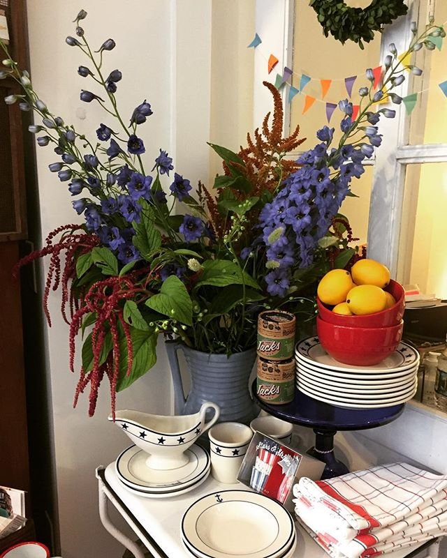The local summer flowers are blooming and we are getting ready for a busy holiday weekend. Stop by and see us. #chathamny #summer #shopsmall #july4th #hudsonvalley #nextstopchatham