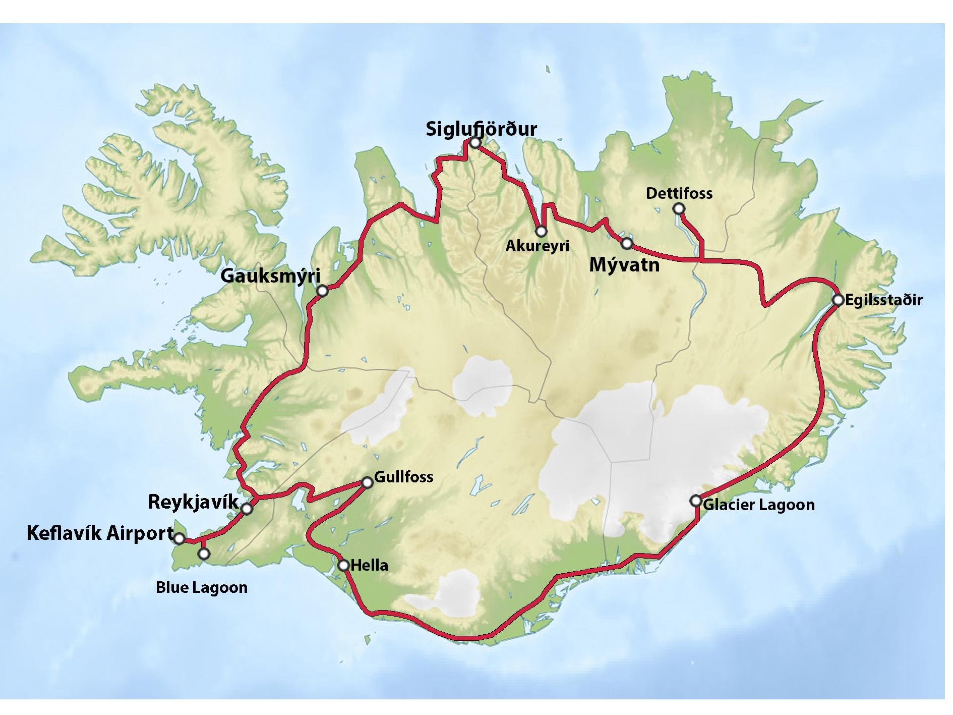 Iceland Circle Road Map.png