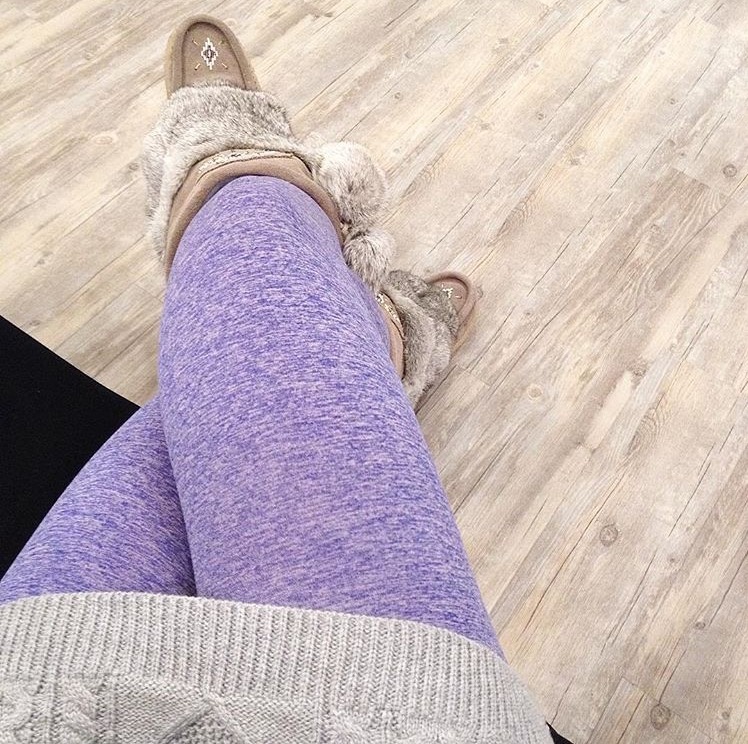 Shown above are the Purple Fleece Lined Leggings which are a lovely pop of color in the winter!