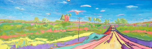 Iowa Country Road  20 x 60  commission - sold