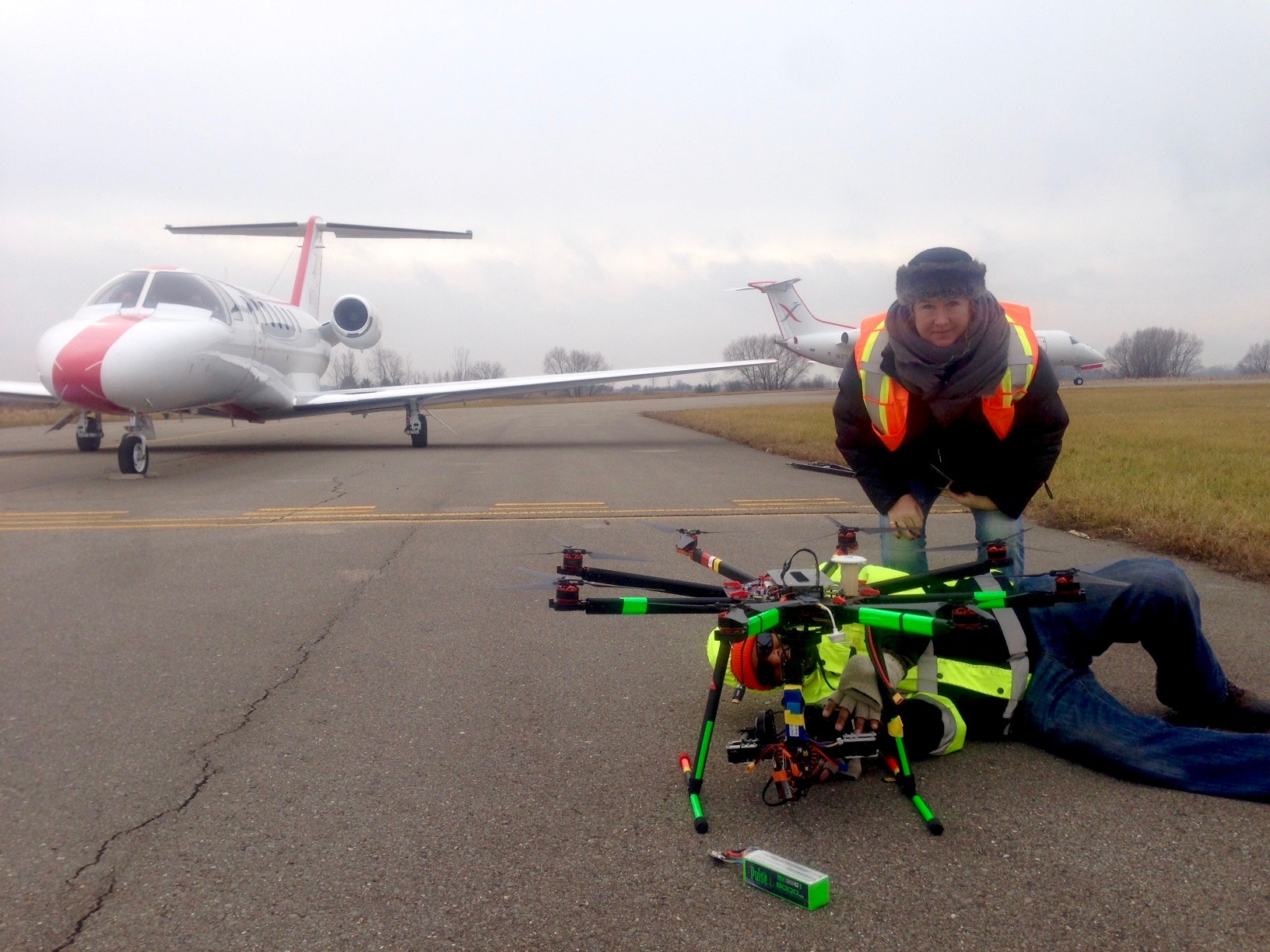 Shooting planes with Drones (legally!)