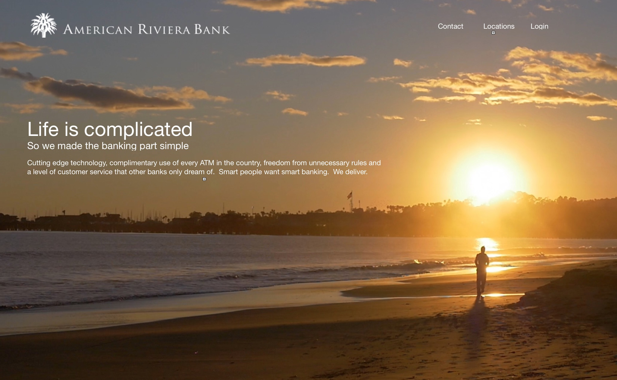 American Riviera Bank Website Creative