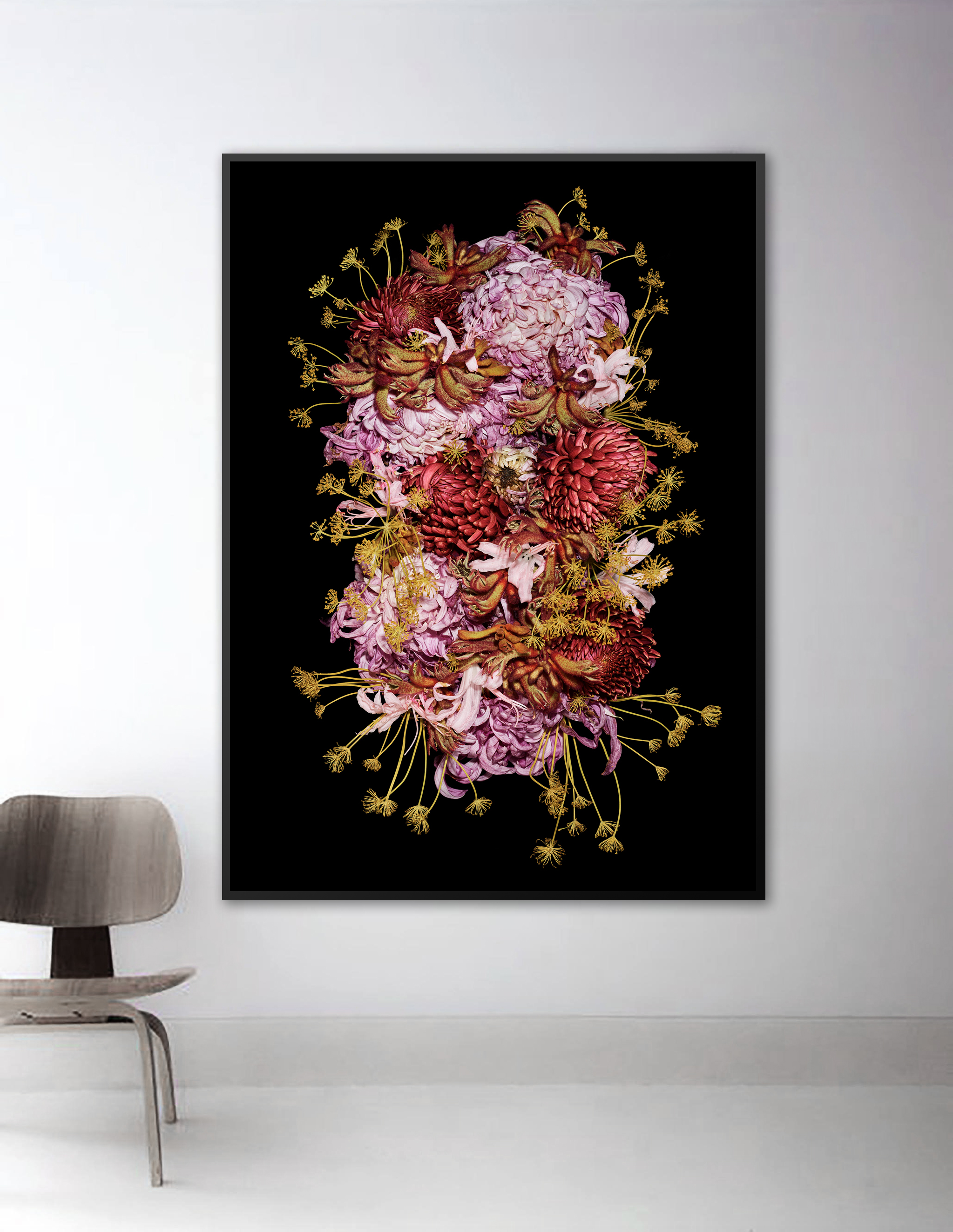 Example in black frame with UV70 Museum grade glass