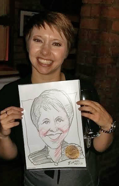 The lovely Frankie who commissioned me for this drawing gig.