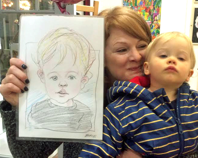 Have no trouble drawing toddlers and babies . I don't make them look like Winston Churchill.