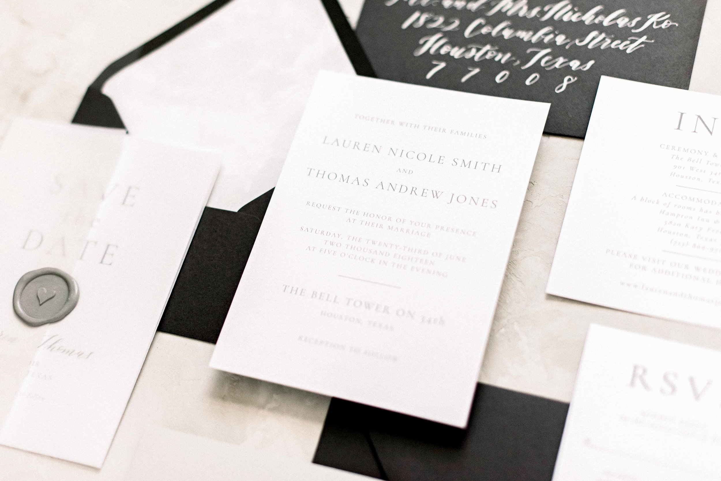Modern Classic Semi-Custom Invitation_Gray Wedding Invitation_Dreams and Nostalgia.jpg