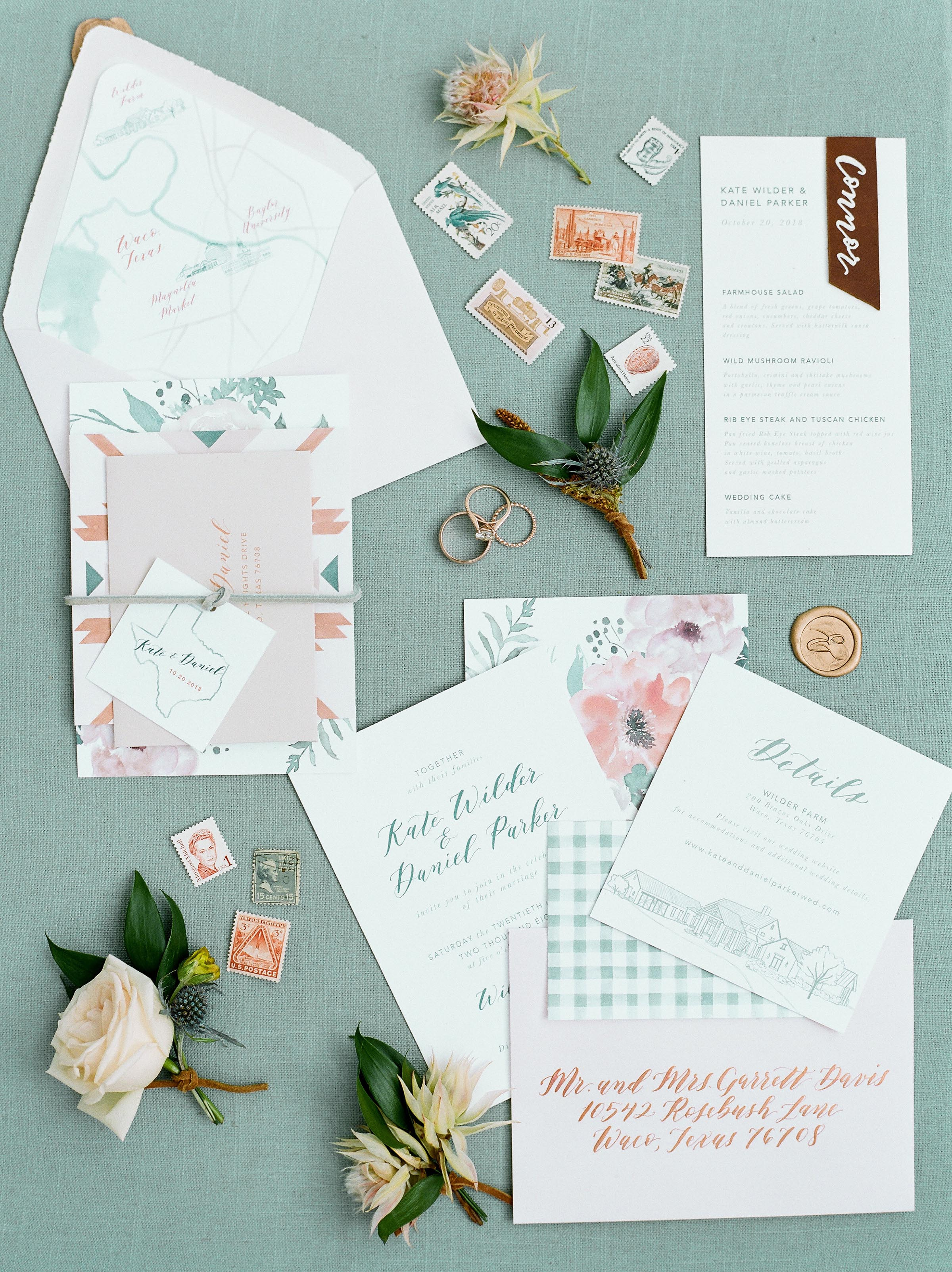 Dreams and Nostalgia Invitation Suite_Courtney Leigh Photography_Waco Map Envelope Liner_Venue Sketch.jpg