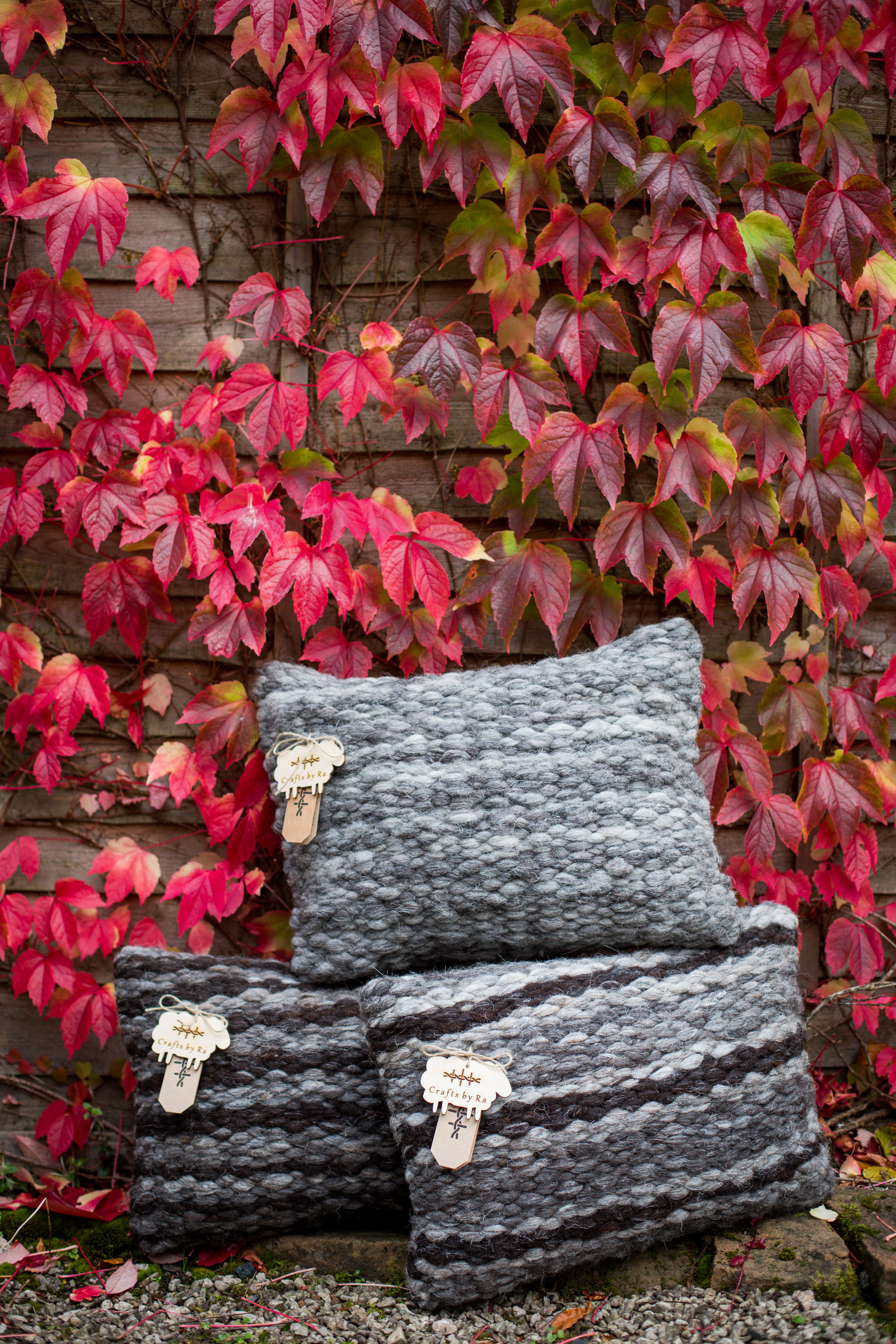 A trio of Lake District Herdwick Cushions