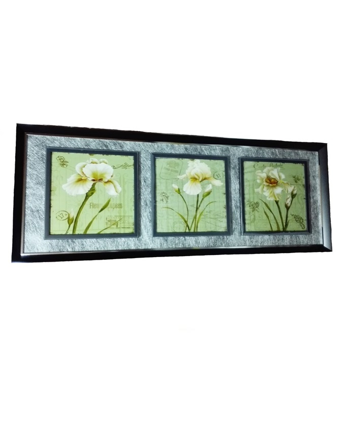dragon lily 3 in 1 wood painting - 118 x 45cm   n17,000