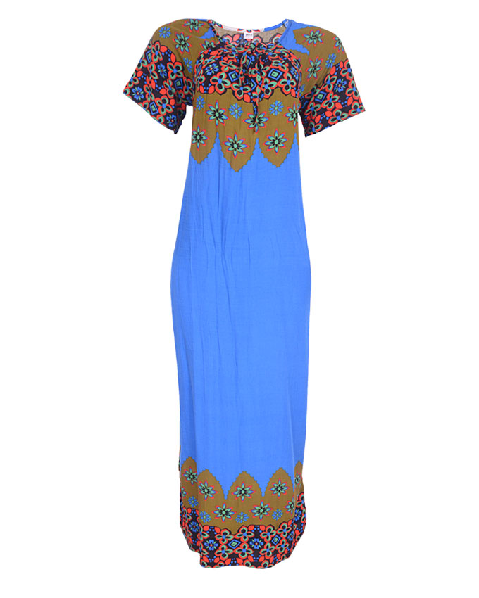 edgware maxi dress - blue/green sizes 14   n4,000