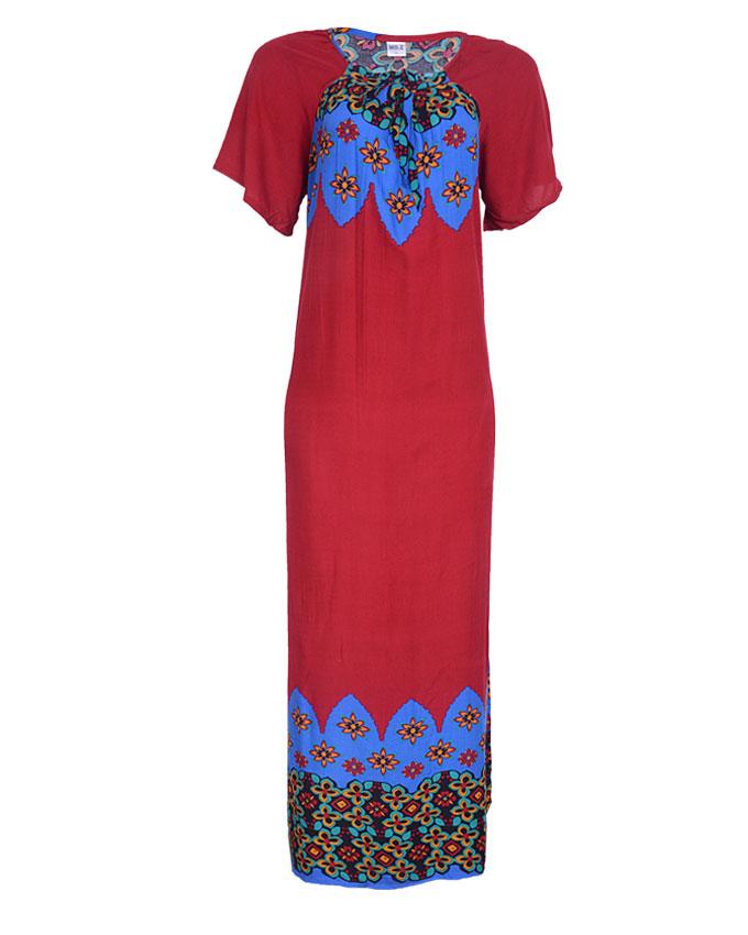 edgware maxi dress - blue/dark red sizes 18   n4,000