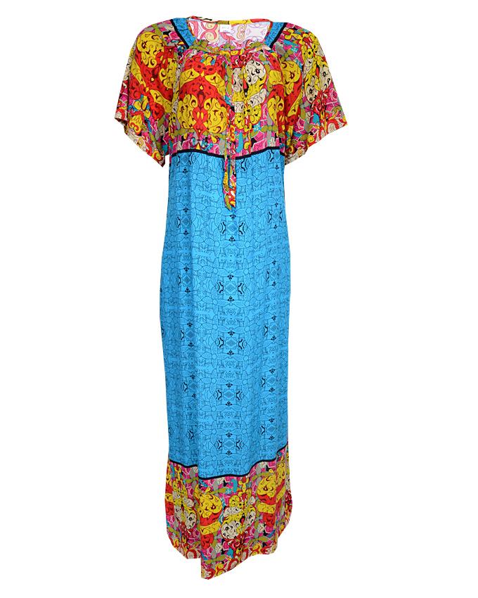 greenwich maxi dress - blue sizes 14 - 20   n3,500