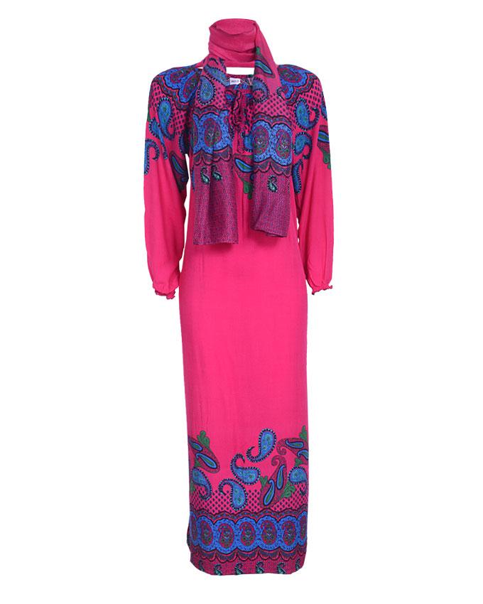MORNINGTON MAXI DRESS W/ SCARF - purpleSIZES 18, 20   n4,500