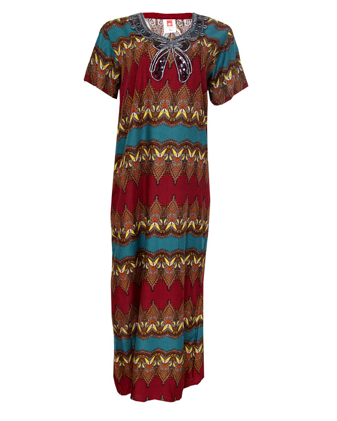 milan maxi dress with embroidered neck detail - green sizes 18   n4,000