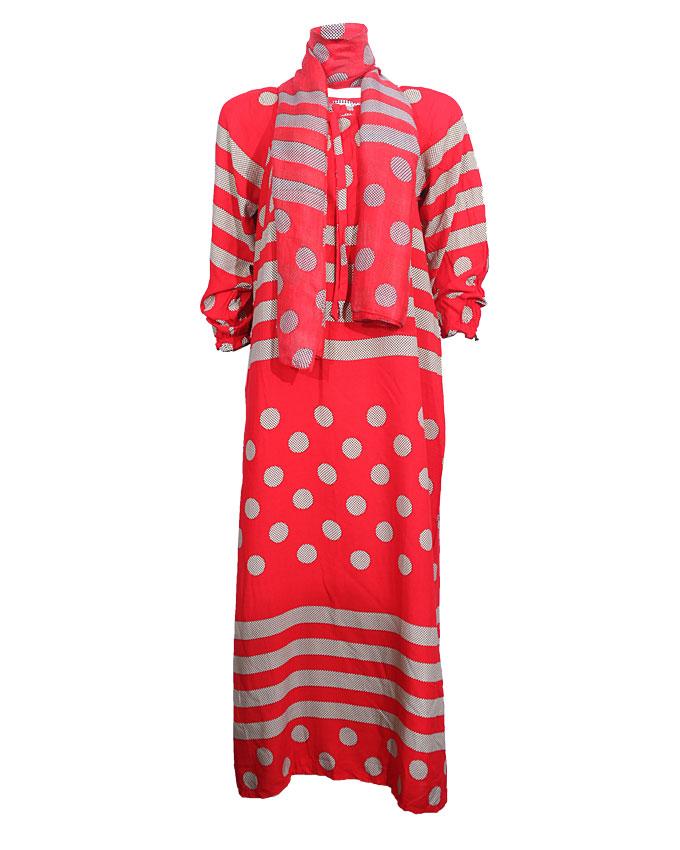 PRESTON MAXI DRESS WITH ILLUSION BUBBLE PRINT - redSIZES 18, 20   n4,000