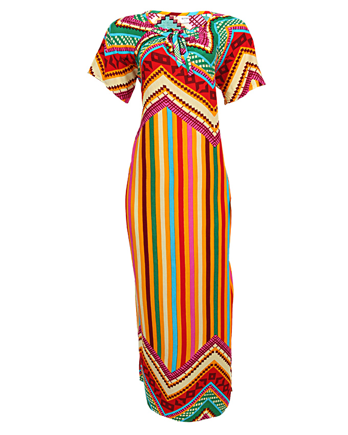 portland maxi dress with line detail - yellow sizes 18 - 22   n3,500