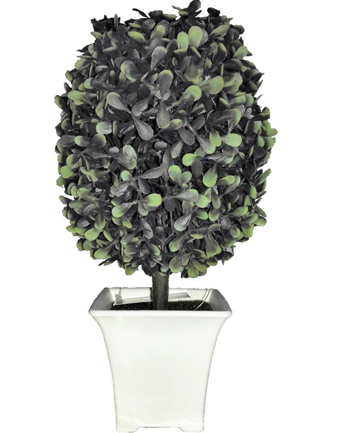 NEW    WIKOS GREEN PLANT IN WHITE POT - 25CM   N5,500