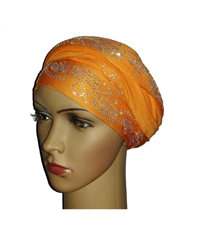new    regal turban with lake wave design - orange   n5,800