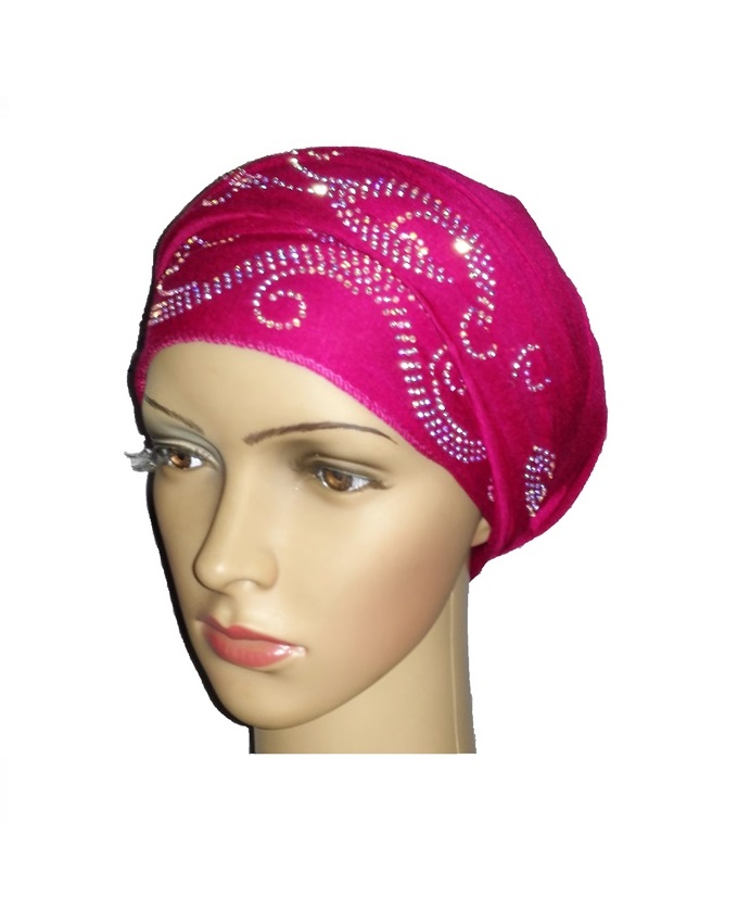 new    regal turban with wave design - hot pink   n5,800