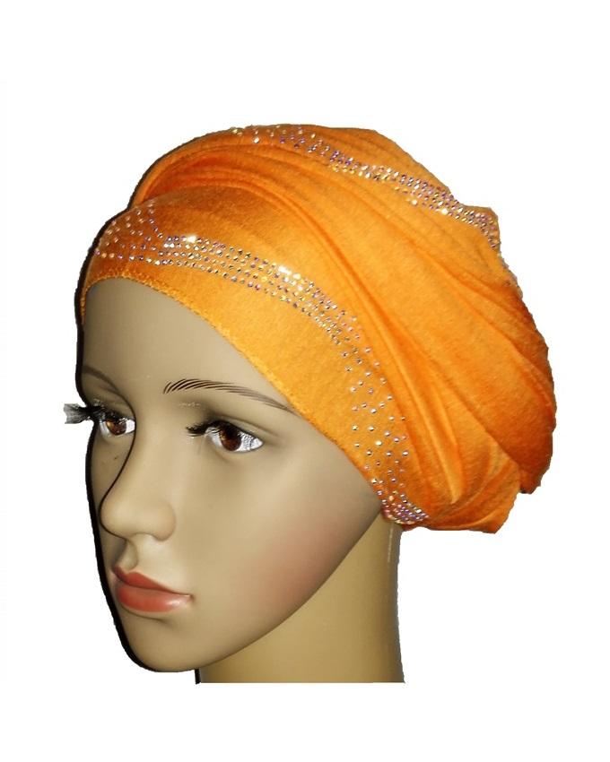 new    regal turban with CENTRIC PRINT - orange   n5,800