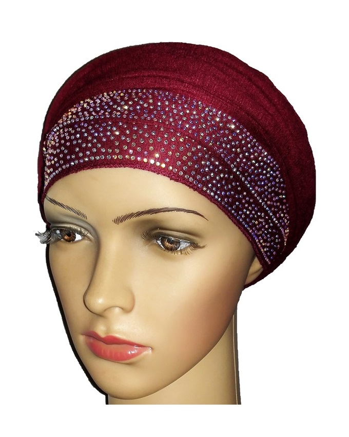 new    regal turban with loaded studs - burgundy   n5,800