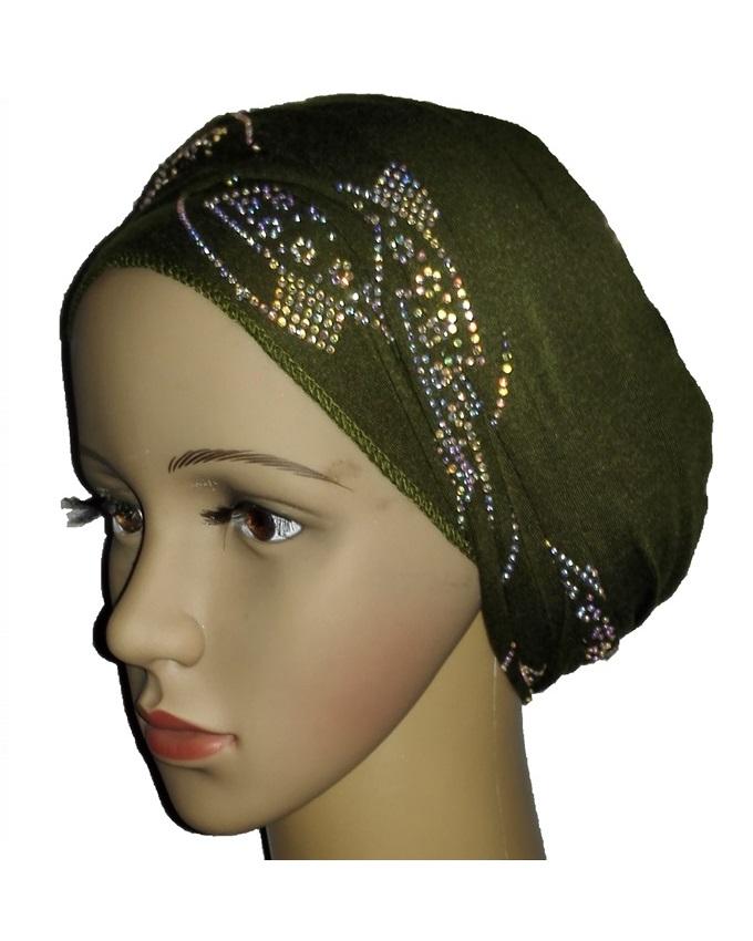 new    regal turban with orbital print- olive green   n5,800
