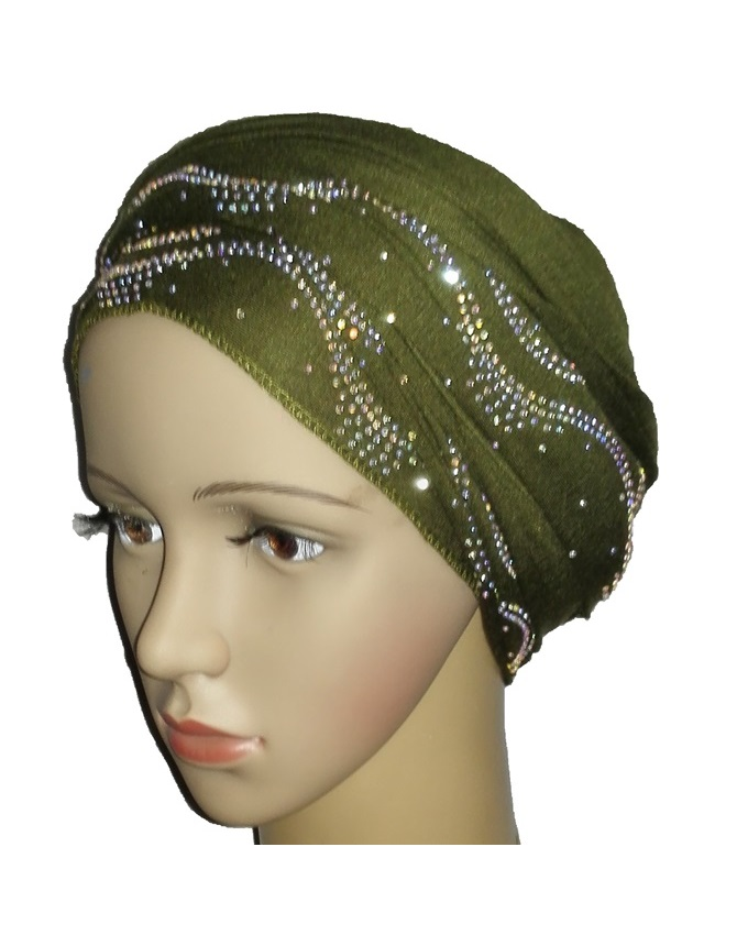 new    regal turban with ocean wave- olive green   n5,800