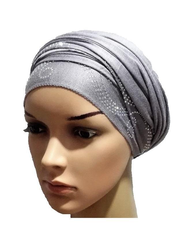 new    regal turban wave design - grey   n5,800