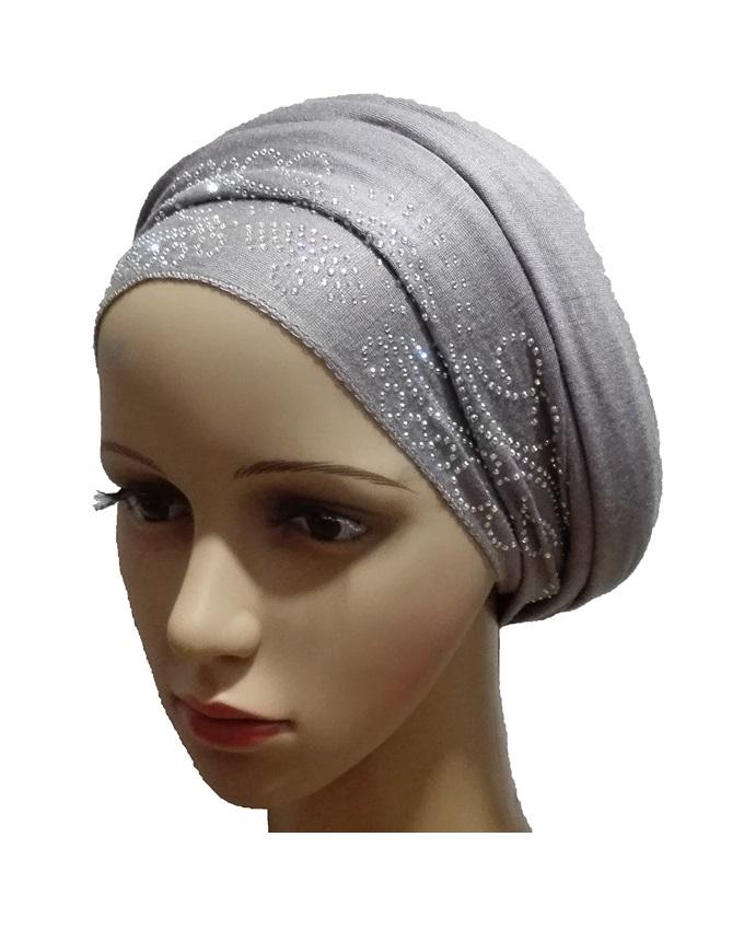new    regal turban petal & circle design - grey   n5,800